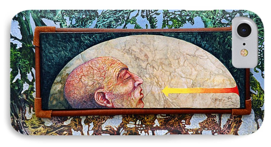 Surrealism Fantasy Fantastic Realism Decalcomania Otto Rapp The Mystic IPhone 7 Case featuring the painting Bogomil Rising by Otto Rapp