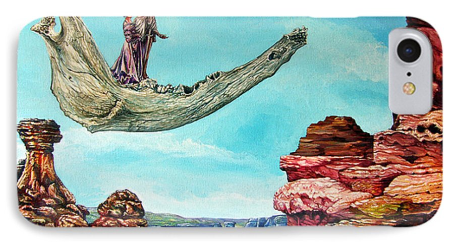 Painting IPhone 7 Case featuring the painting Bogomils Journey by Otto Rapp