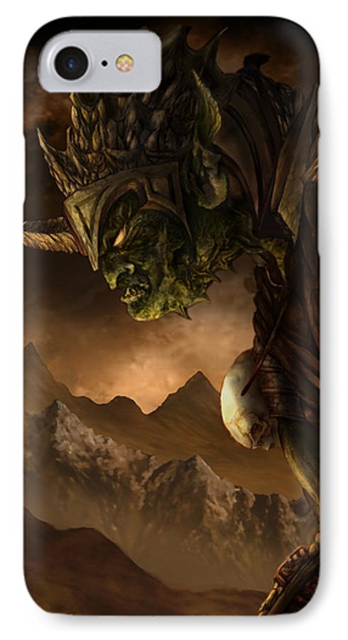 Goblin IPhone 7 Case featuring the mixed media Bolg The Goblin King by Curtiss Shaffer