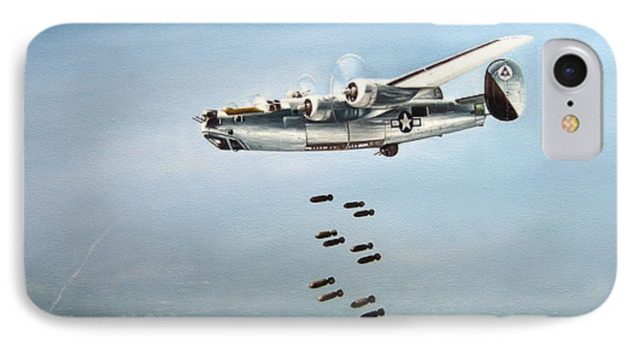 Aviation IPhone 7 Case featuring the painting Bombs Away by Marc Stewart