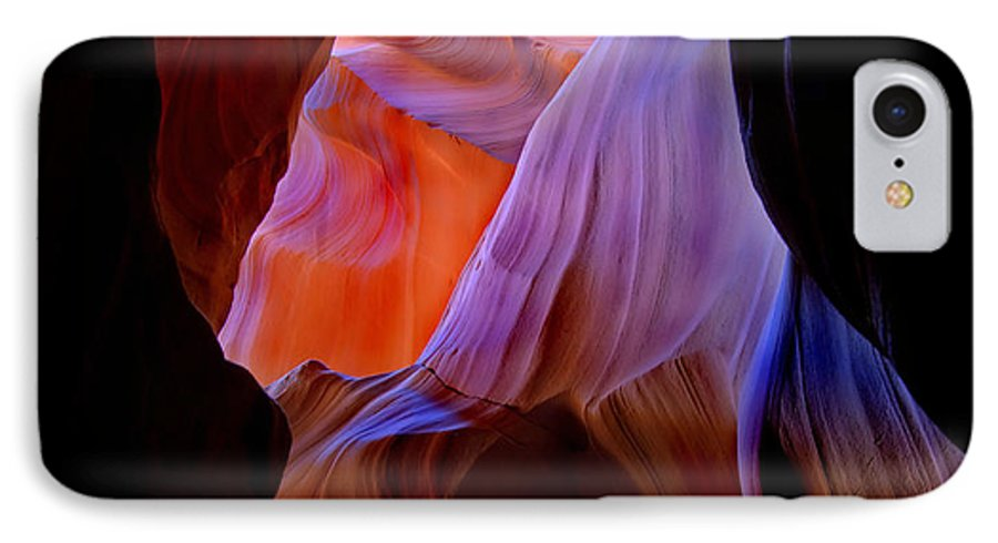 Canyon IPhone 7 Case featuring the photograph Bottled Light by Mike Dawson