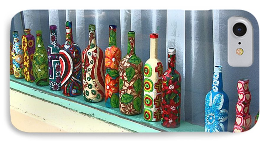 Bottles IPhone 7 Case featuring the photograph Bottled Up by Debbi Granruth