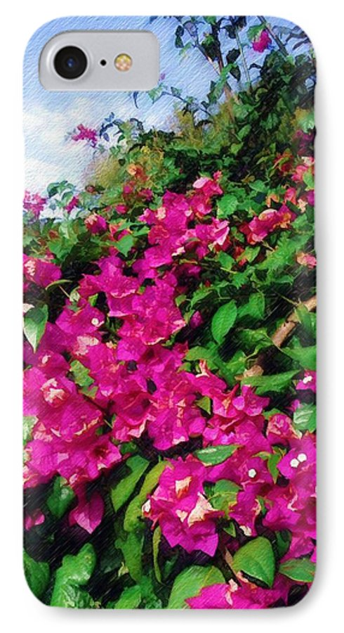 Bougainvillea IPhone 7 Case featuring the photograph Bougainvillea by Sandy MacGowan