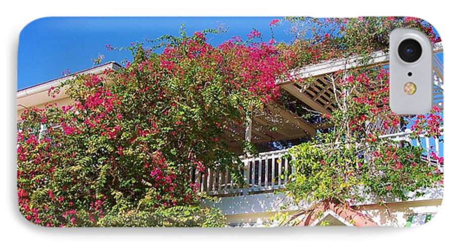 Flowers IPhone 7 Case featuring the photograph Bougainvillea Villa by Debbi Granruth