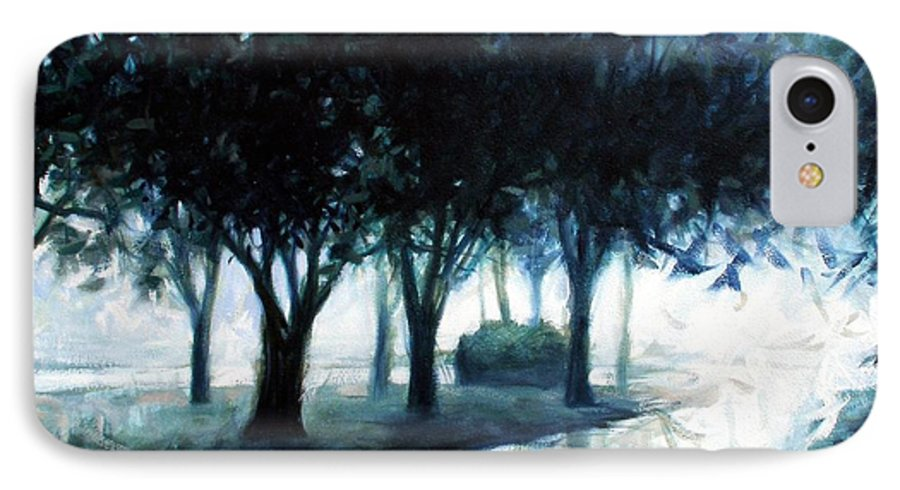 City Scape IPhone 7 Case featuring the painting Boulevard by Kevin Lawrence Leveque