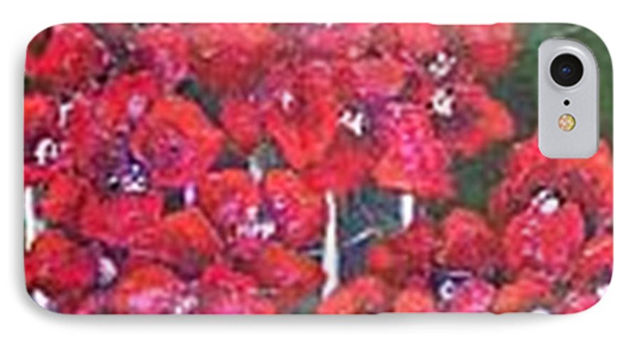 IPhone 7 Case featuring the painting Bounganvillia On Fence by Carol P Kingsley