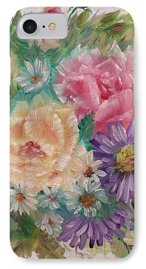 Rose IPhone 7 Case featuring the painting Bouquet 2 by Quwatha Valentine