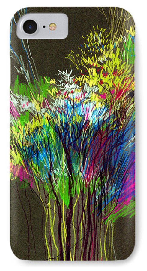Flowers IPhone 7 Case featuring the painting Bouquet by Anil Nene