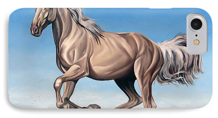 Horse IPhone 7 Case featuring the painting Breeze by Ilse Kleyn