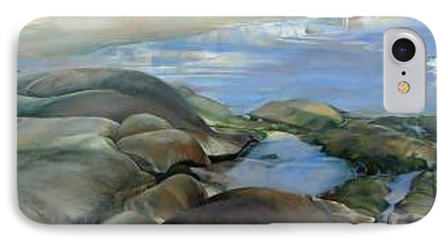 Paysage IPhone 7 Case featuring the painting Bretagne 1 by Muriel Dolemieux