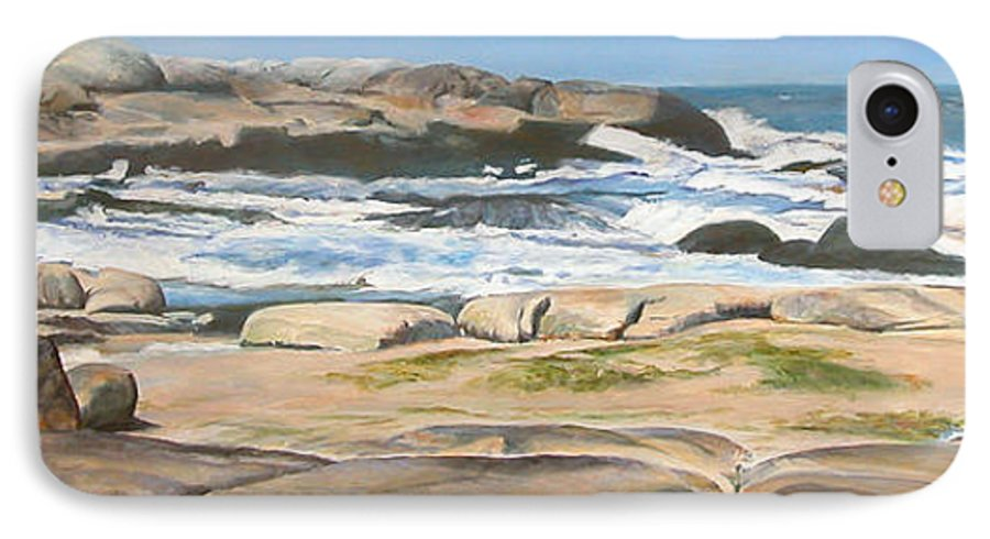 Paysage IPhone 7 Case featuring the painting Bretagne 2 by Muriel Dolemieux