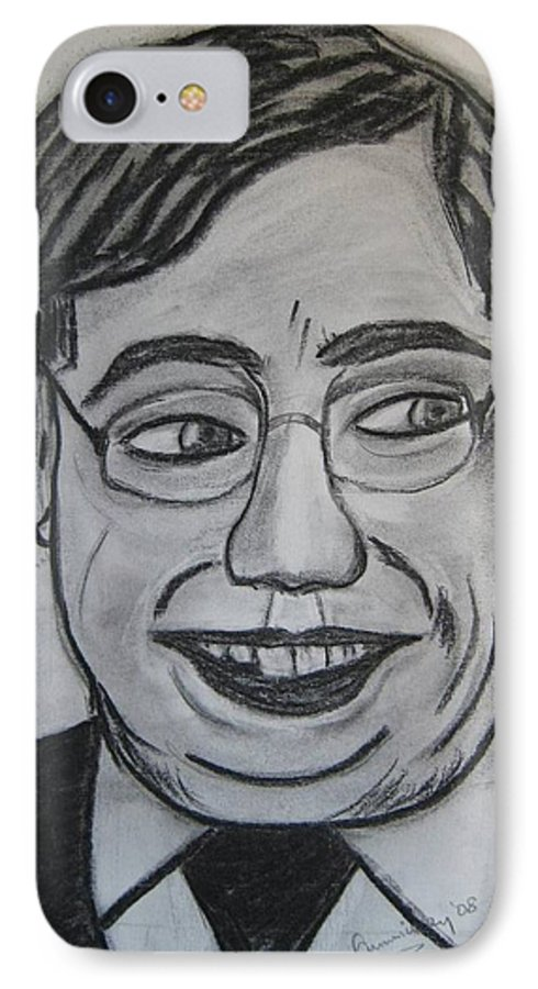 Art Artroger Roger Cummiskey Charcoal IPhone 7 Case featuring the painting Brian Cowan by Roger Cummiskey