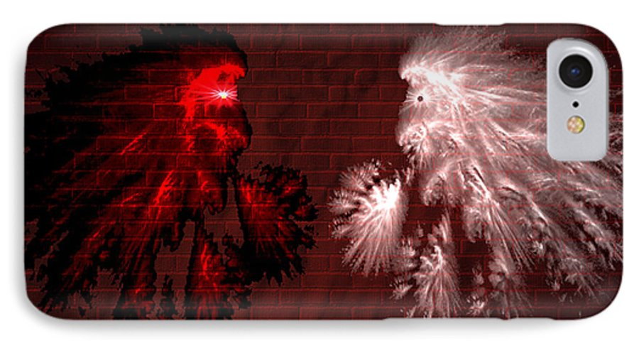 War IPhone 7 Case featuring the digital art Brick Graffiti by Evelyn Patrick