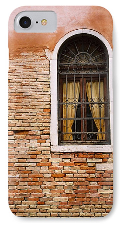 Window IPhone 7 Case featuring the photograph Brick Window by Kathy Schumann