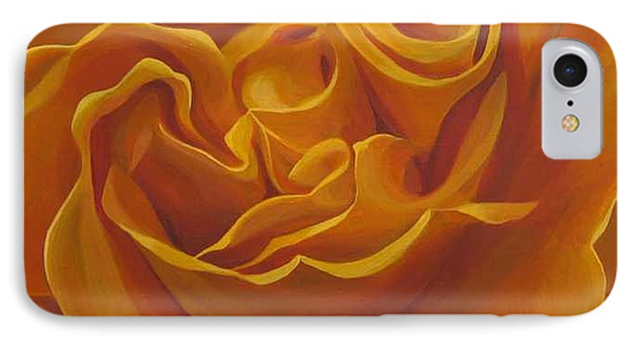 Yellow Rose In The Italian Countryside IPhone 7 Case featuring the painting Bright As Yellow by Hunter Jay