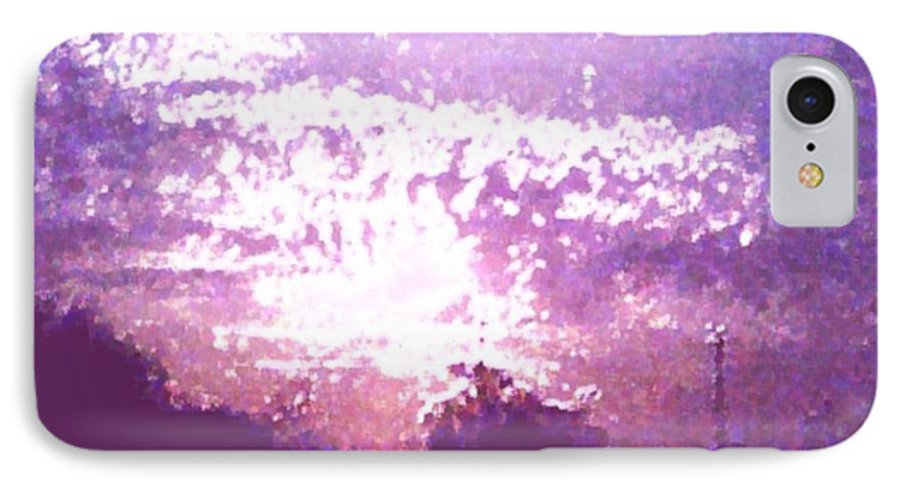 Evening IPhone 7 Case featuring the digital art Bright Evening by Dr Loifer Vladimir