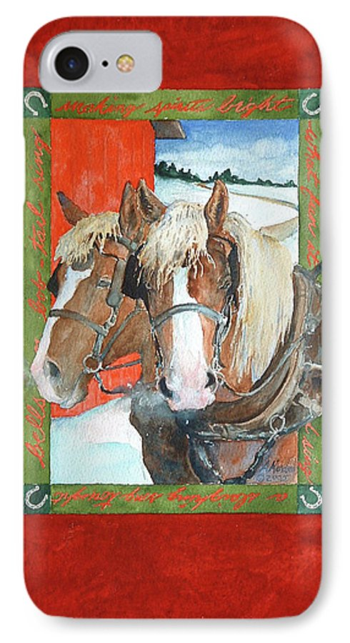 Horses IPhone 7 Case featuring the painting Bright Spirits by Christie Michelsen