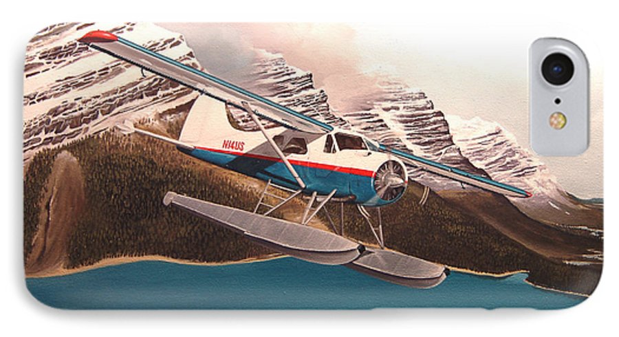 Aviation IPhone 7 Case featuring the painting Bringing Home The Groceries by Marc Stewart