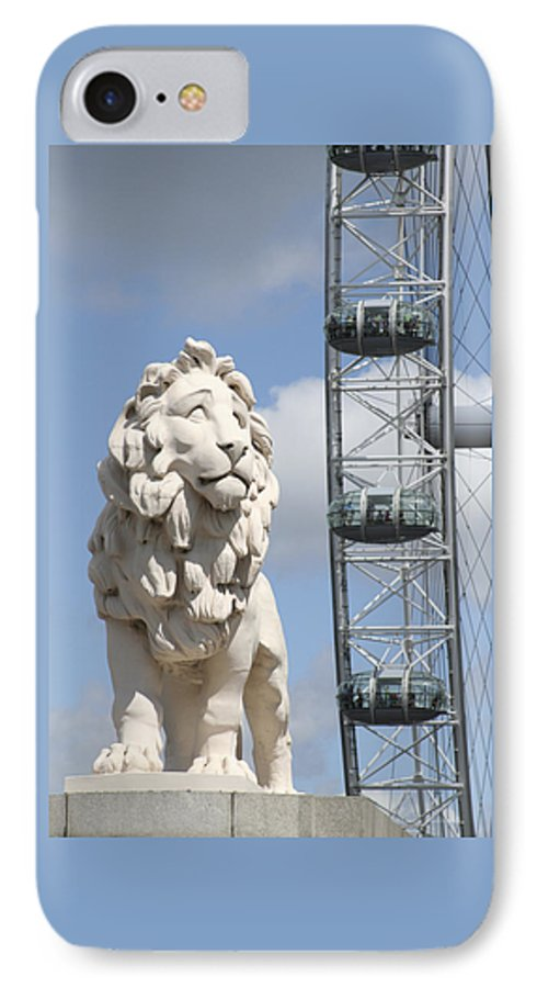 Lion IPhone 7 Case featuring the photograph Britannia Lion by Margie Wildblood