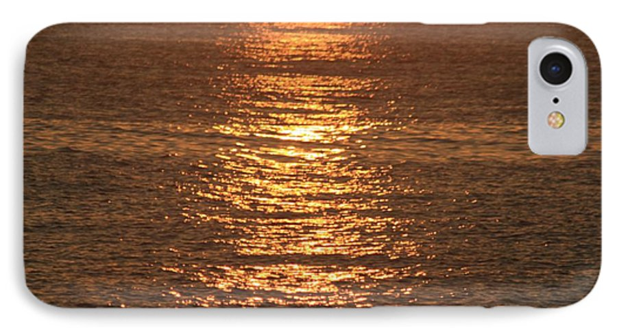 Ocean IPhone 7 Case featuring the photograph Bronze Reflections by Nadine Rippelmeyer