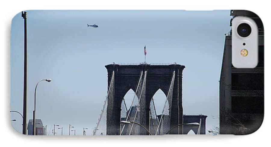 Architecture IPhone 7 Case featuring the photograph Brooklyn Bridge by Rob Hans