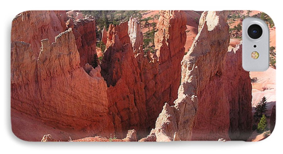 Bryce IPhone 7 Case featuring the photograph Bryce Canyon Look by Louise Magno