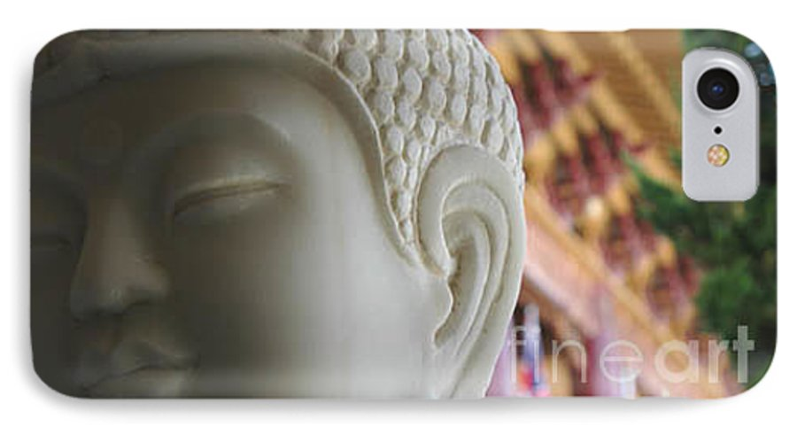 Zen IPhone 7 Case featuring the photograph Buddha At Hsi Lai Temple by Michael Ziegler