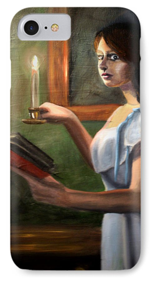 Night IPhone 7 Case featuring the painting Bump In The Night by Maryn Crawford