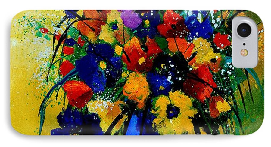 Poppies IPhone 7 Case featuring the painting Bunch 0508 by Pol Ledent