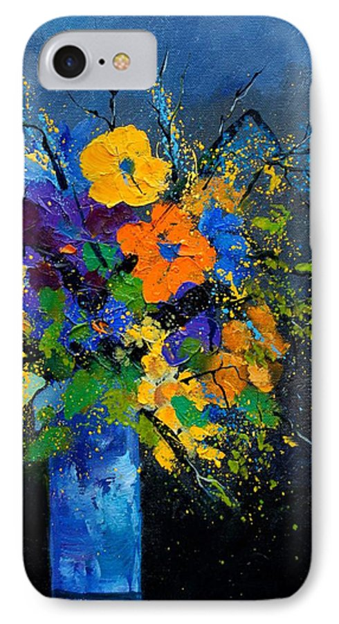 Poppies IPhone 7 Case featuring the painting Bunch 1007 by Pol Ledent