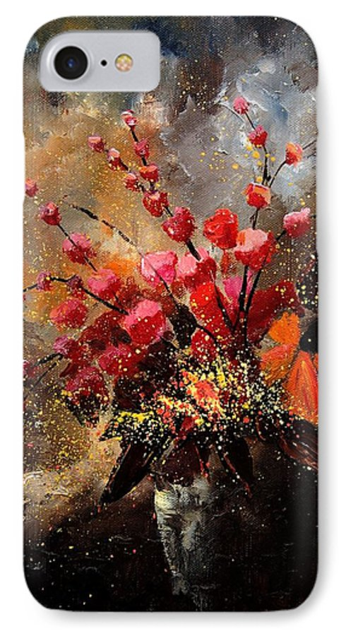 Poppies IPhone 7 Case featuring the painting Bunch 1207 by Pol Ledent