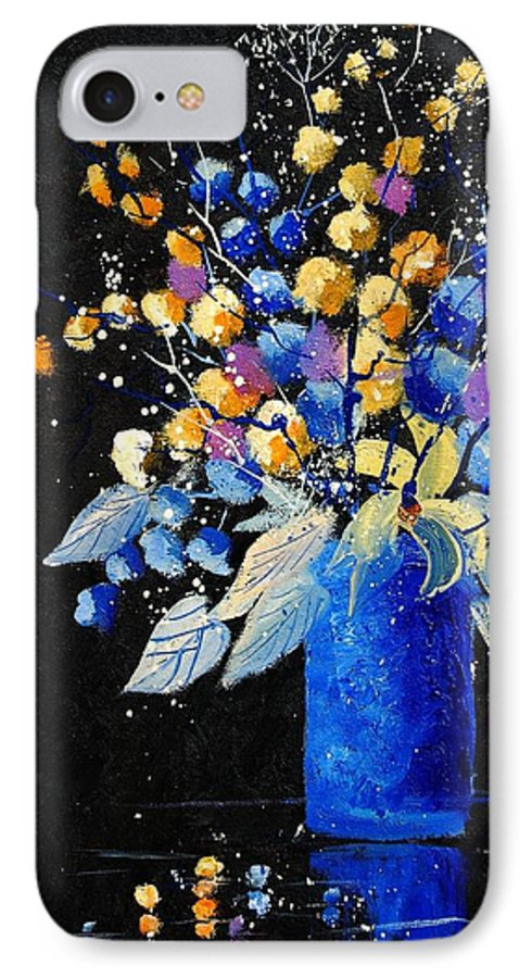 Flowers IPhone 7 Case featuring the painting Bunch 451008 by Pol Ledent