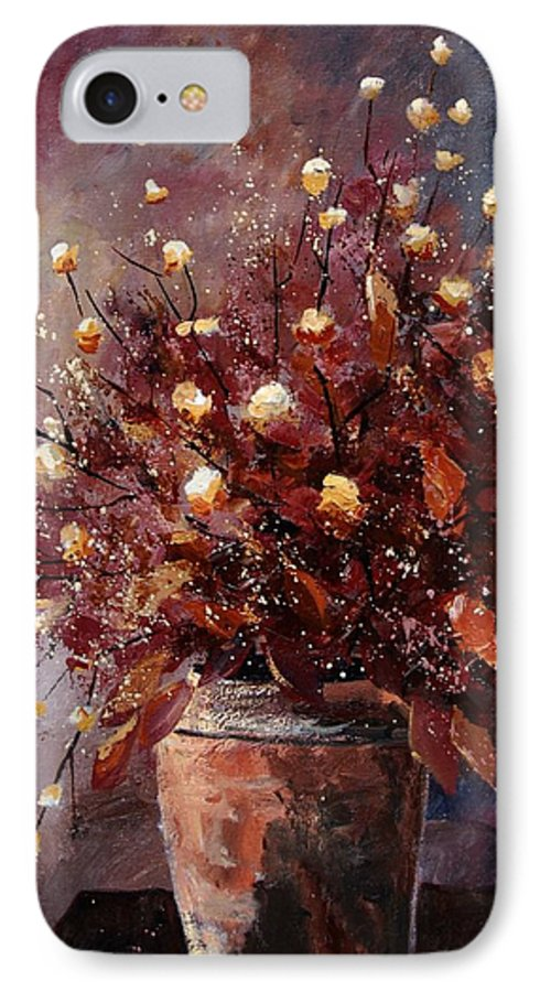 Poppies IPhone 7 Case featuring the painting Bunch 56 by Pol Ledent