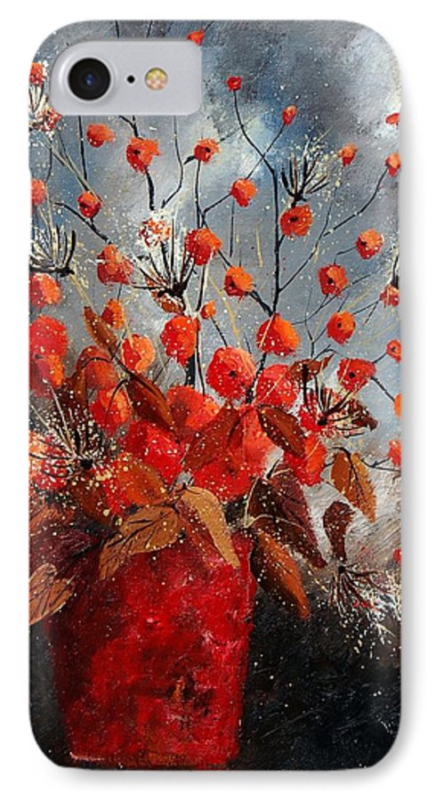 Flowers IPhone 7 Case featuring the painting Bunch 560608 by Pol Ledent