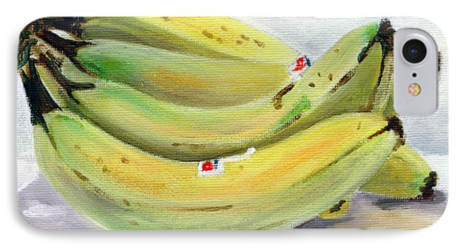 Still-life IPhone 7 Case featuring the painting Bunch Of Bananas by Sarah Lynch