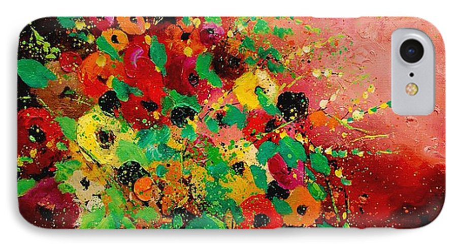 Flowers IPhone 7 Case featuring the painting Bunch Of Flowers 0507 by Pol Ledent