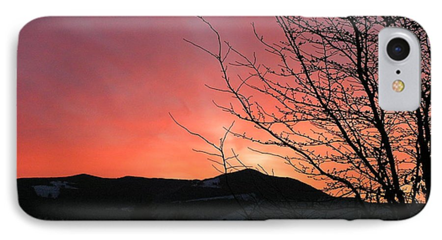 Sunrise IPhone 7 Case featuring the photograph Burlington Sunrise by Louise Magno