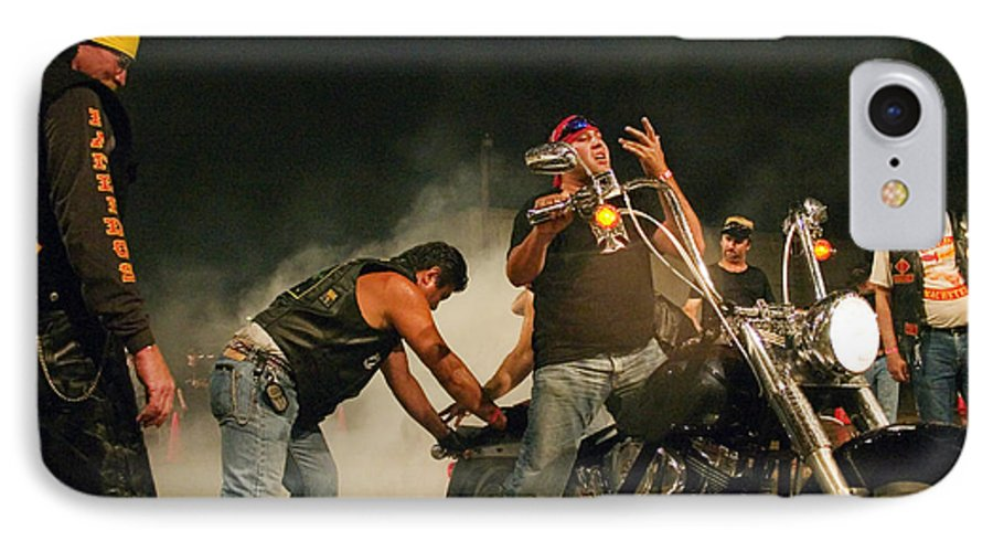 Biker IPhone 7 Case featuring the photograph Burn Out by Skip Hunt