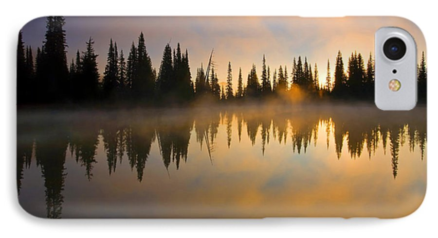 Lake IPhone 7 Case featuring the photograph Burning Dawn by Mike Dawson