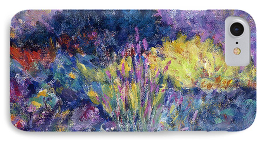 Impressionism IPhone 7 Case featuring the painting Burst Of Color-last Night In Monets Gardens by Tara Moorman