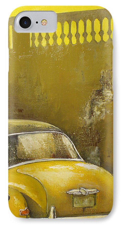 Havana IPhone 7 Case featuring the painting Buscando La Sombra by Tomas Castano