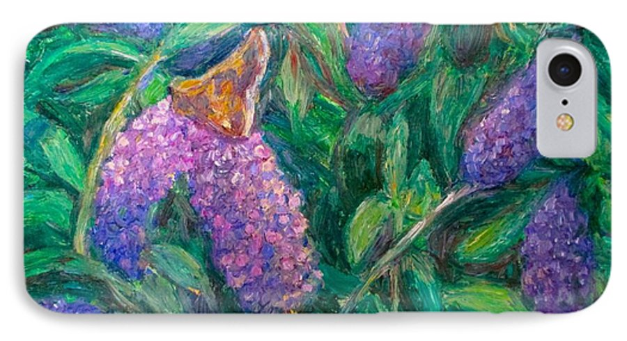 Butterfly IPhone 7 Case featuring the painting Butterfly View by Kendall Kessler