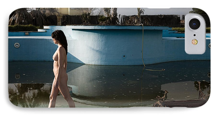 Nudes IPhone 7 Case featuring the photograph By The Old Pool by Olivier De Rycke