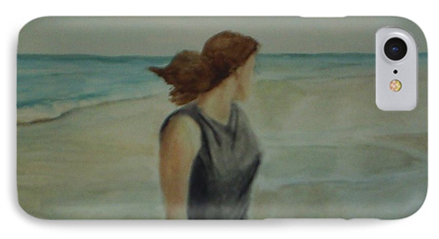 Ocean IPhone 7 Case featuring the painting By The Sea by Sheila Mashaw