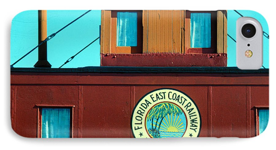 Florida Keys Train Railroad IPhone 7 Case featuring the photograph Caboose by Carl Purcell