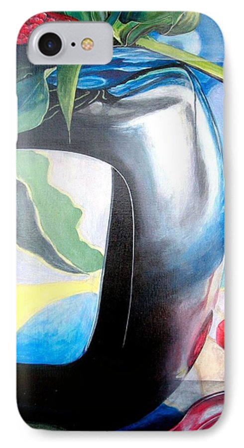 Nature-morte IPhone 7 Case featuring the painting Cadre by Muriel Dolemieux