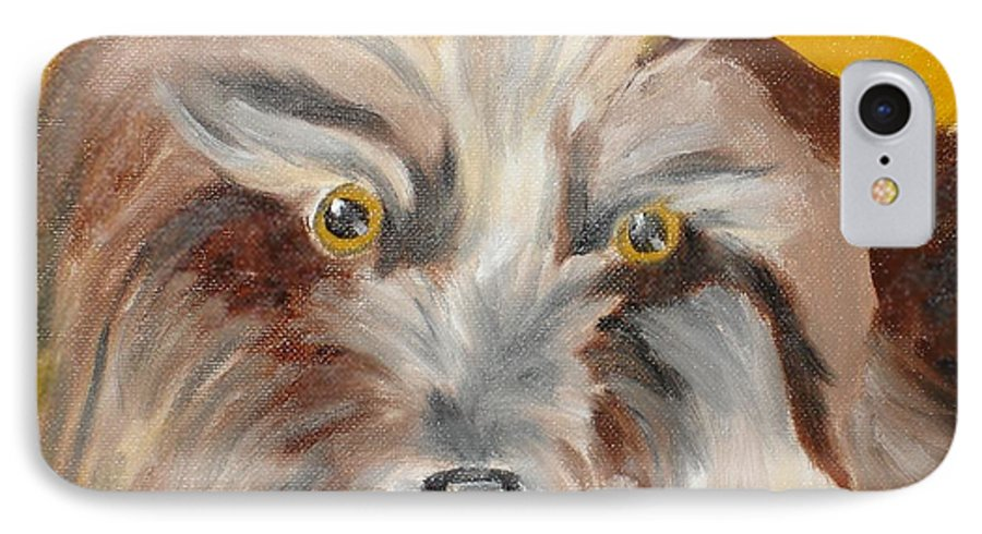 Dog IPhone 7 Case featuring the painting Cairn Terrier by Susan Kubes