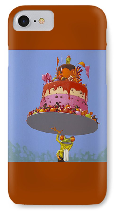 Cake IPhone 7 Case featuring the painting Cake by Jasper Oostland