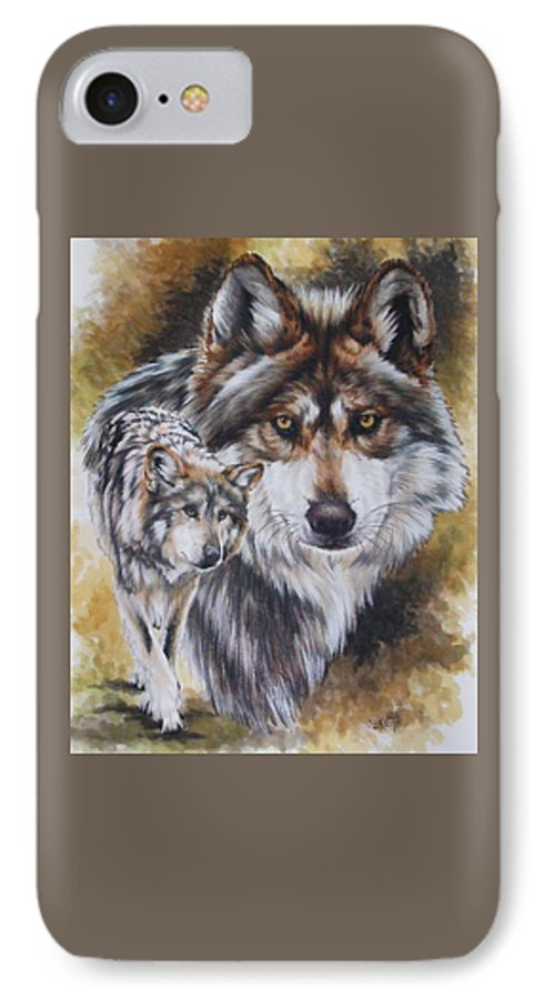 Wildlife IPhone 7 Case featuring the mixed media Callidity by Barbara Keith