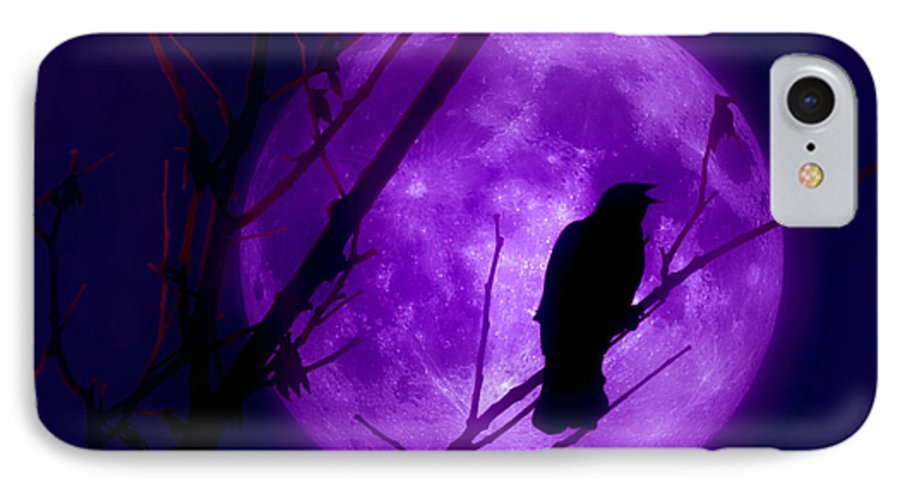 Moon IPhone 7 Case featuring the photograph Calling Out To The Night by Kenneth Krolikowski